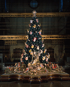 Christmas Tree and Neapolitan Baroque Crèche at the Metropolitan Museum of Art in NYC