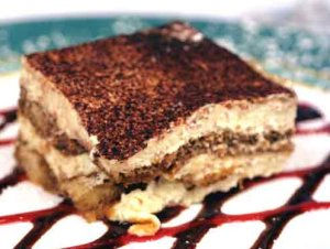 Tiramisu at Fino Wall Street