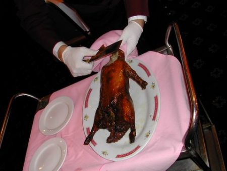 Beijing Duck at the Nice Restaurant