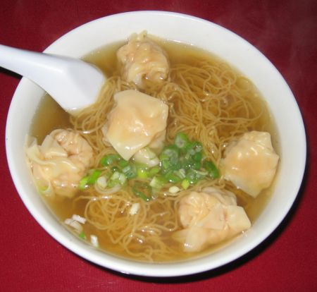 J.M. Family Noodle Restaurant ... shrimp dumpling noodle soup - perfect on a cold winter day
