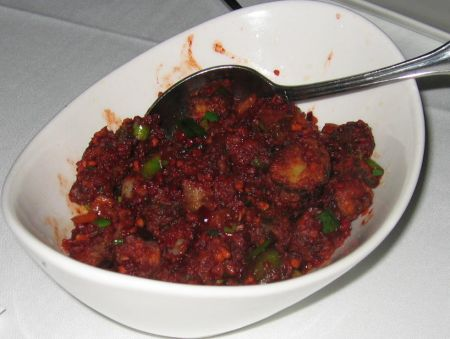 the Okra Tangra Masala is a truly outstanding dish ...